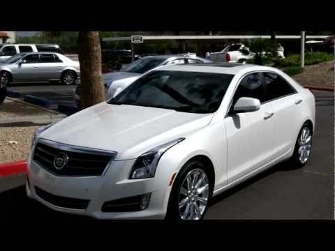 2013 Cadillac ATS, Premium with Performance, White Diamond, Lund Cadillac, Phoenix, AZ 85022