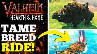 How To Tame, Bręed & Ride Lox in Valheim! +BOATS!?