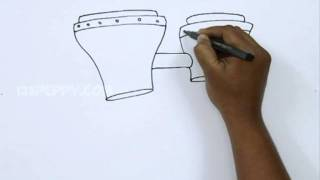 How to Draw a Bongo Drum
