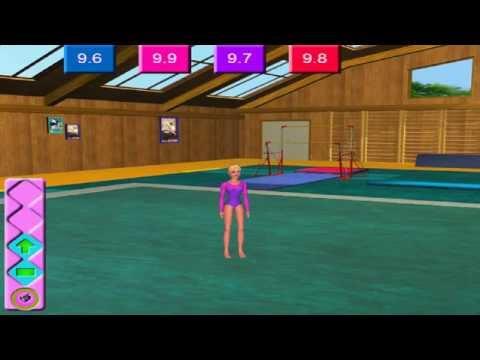 Игры Барби спортивная гимнастика играть, онлайн