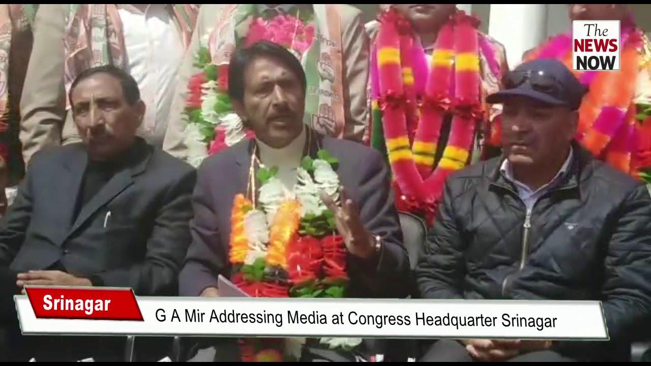 G A Mir Addressing Media at Congress Headquarter Srinagar