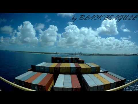 Таймлапс захода контейнеровоза во Фрипорт, Багамские Острова