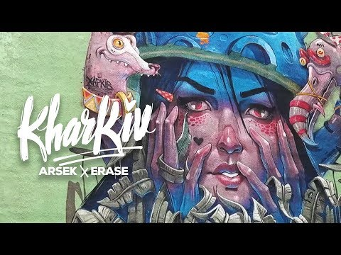 Arsek & Erase Kharkiv Ukraine - Graffiti Trip 4k