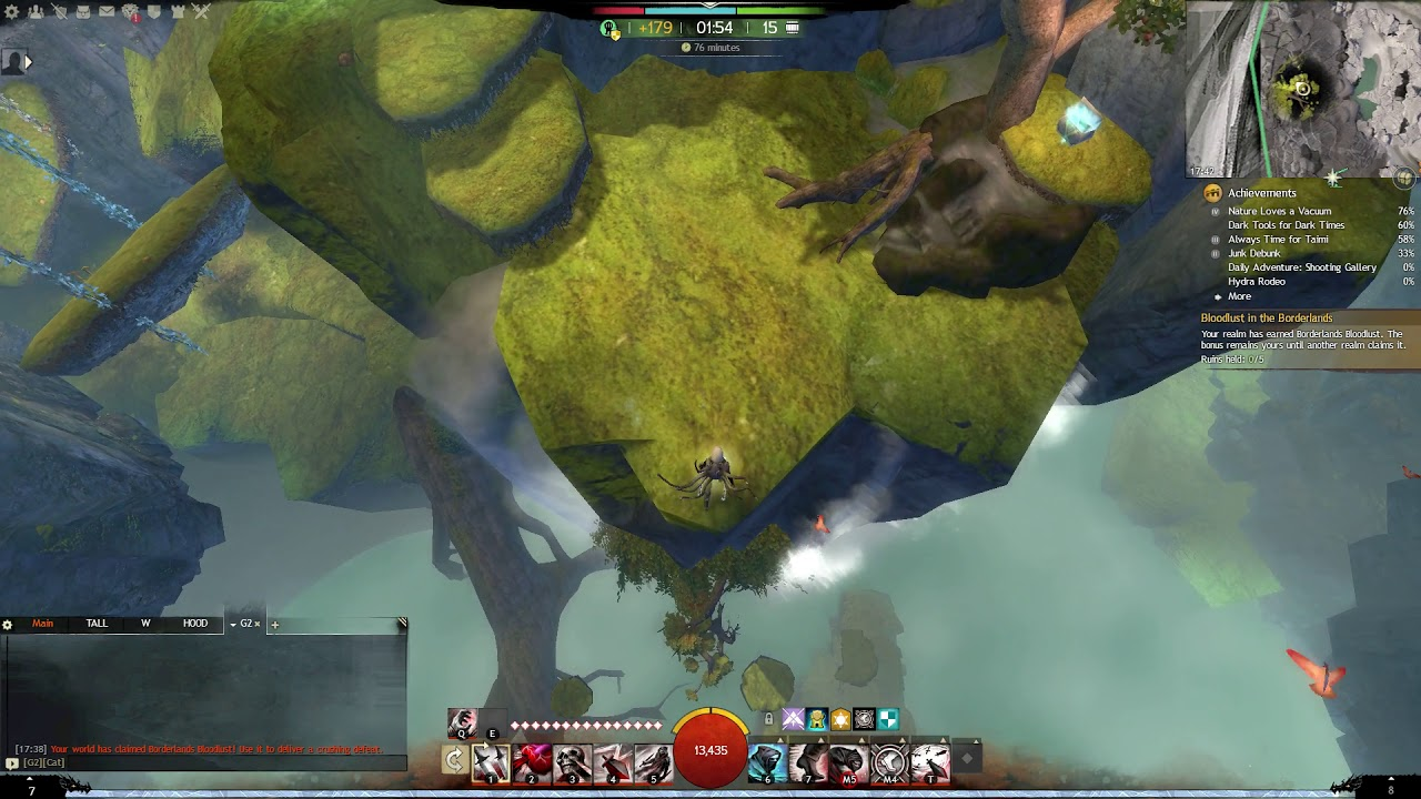Guild Wars 2 (Jumping Puzzle) - Emerald Sanctum, Sapphire Sanctum (WvW,  Alpine Borderlands)