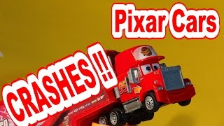 Pixar Cars Slow Motion Crash Compilation With Lightning Mcqueen, Mater, Spy Jet And Thomas The Train