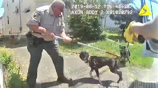 Bodycam Shows Police Avoid Using Lethal Force When Responding To Dog Attack