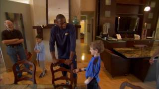 Dwyane Wade Spends Time With Young Heat Fan