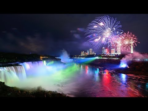 🎥 Majestic Niagara Falls Day & Night With 🇨🇦 Canada Day Fireworks 💥