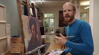 Ein Porträt, ein Gesicht  plastisch malen lernen mit Felix Eckardt