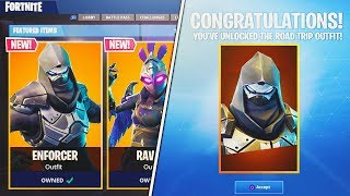 UNLOCKING THE NEW ROAD TRIP SKIN! (The ENFORCER SKIN) - Fortnite ROAD TRIP CHALLENGES!