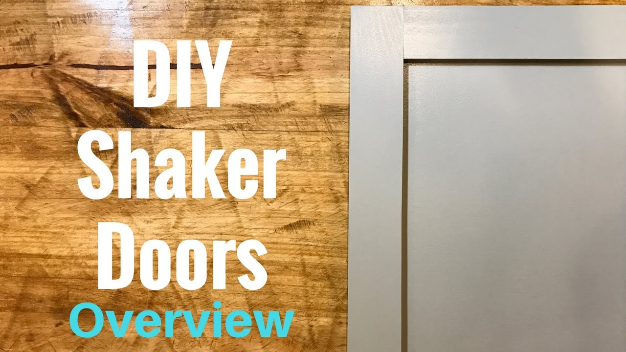 Diy Shaker Cabinet Doors Part 1 Overview Youtube