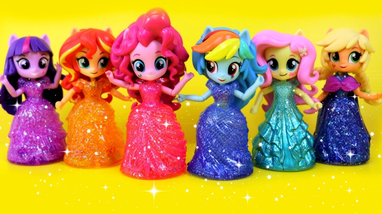My Little Pony Toys : Equestria girls princess toys surprises with my little