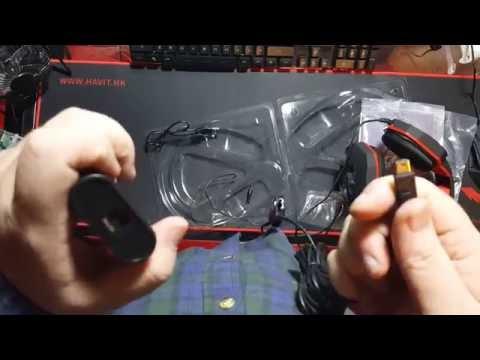 Unboxing & Mic Testing HAMSWAN Multi-functional Optical Fiber Stereo Gaming Headset