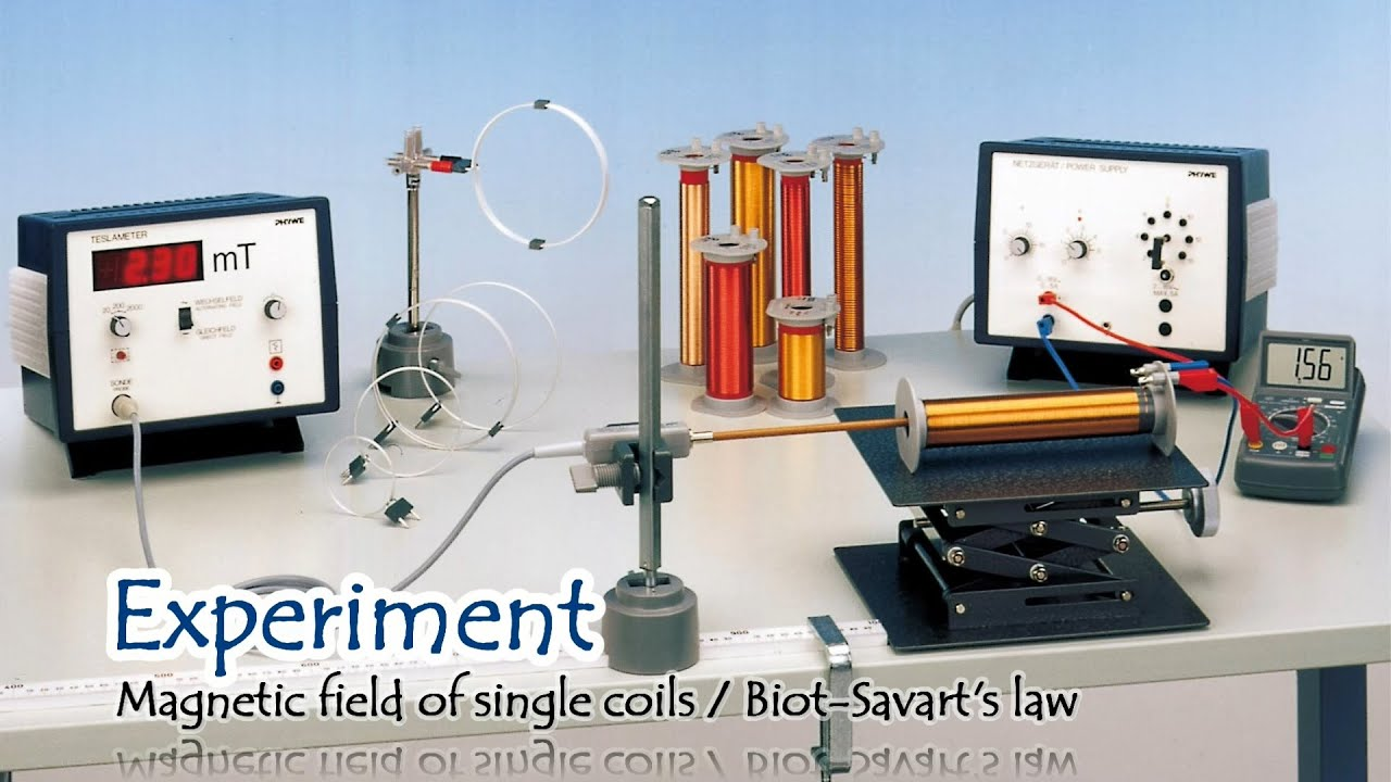 Introduction Experiment Magnetic field of single coils / Biot-Savart's law