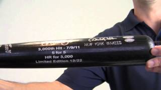 Signed Limited Edition Derek Jeter Bat - 5 For 5 - Sm Holo