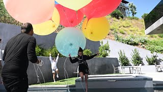 David Blaine ties Dixie to Giant Balloons  | The D'Amelio Family