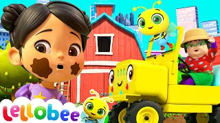 Wheels On The Bus! | @Lellobee City Farm - Cartoons & Kids Songs | Learning Videos For Kids
