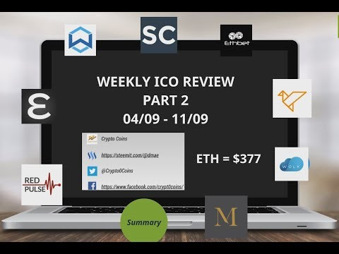 Weekly ICO review 04/09 PART 2 - Red Pulse, Wanchain, Enigma, Swarm, Maecenas, Wolk, ChainLink