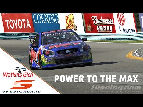 """""""iRacing: Power to the Max"""" (V8 SuperCars Americas Sportsman Race at Watkins Glen Classic Boot)"""