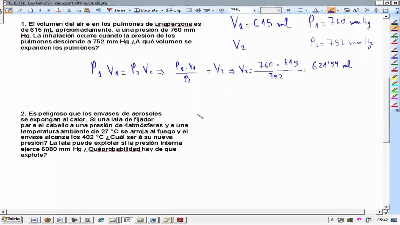 Presion Volumen Temperatura 4 Problemas Fisica y Quimica 3º ESO ...