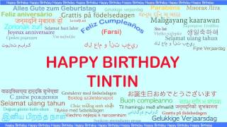 TinTin   Languages Idiomas - Happy Birthday