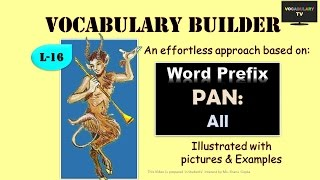 Word Prefix - PAN and derived words Illustrated (Vocabulary: L-16)