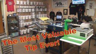 The Number 1 Ultimate Top Secret Epic Screenprinting Tip Of All Time!