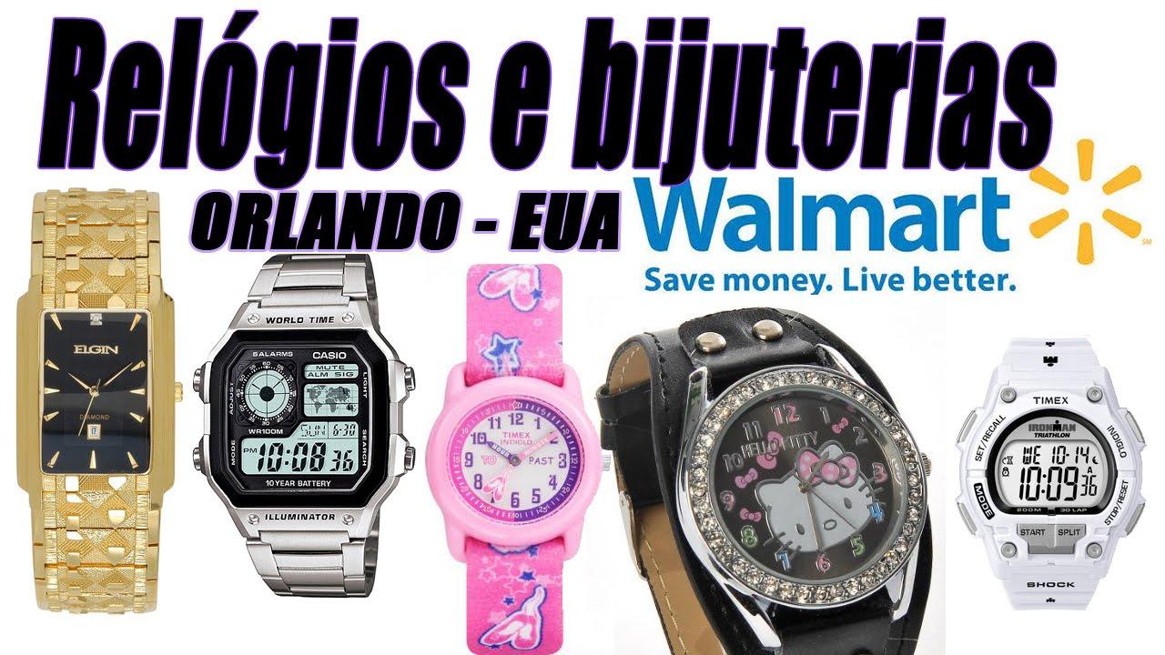 Relógios e bijuterias no Walmart de Orlando - YouTube b8cbc3bdf9