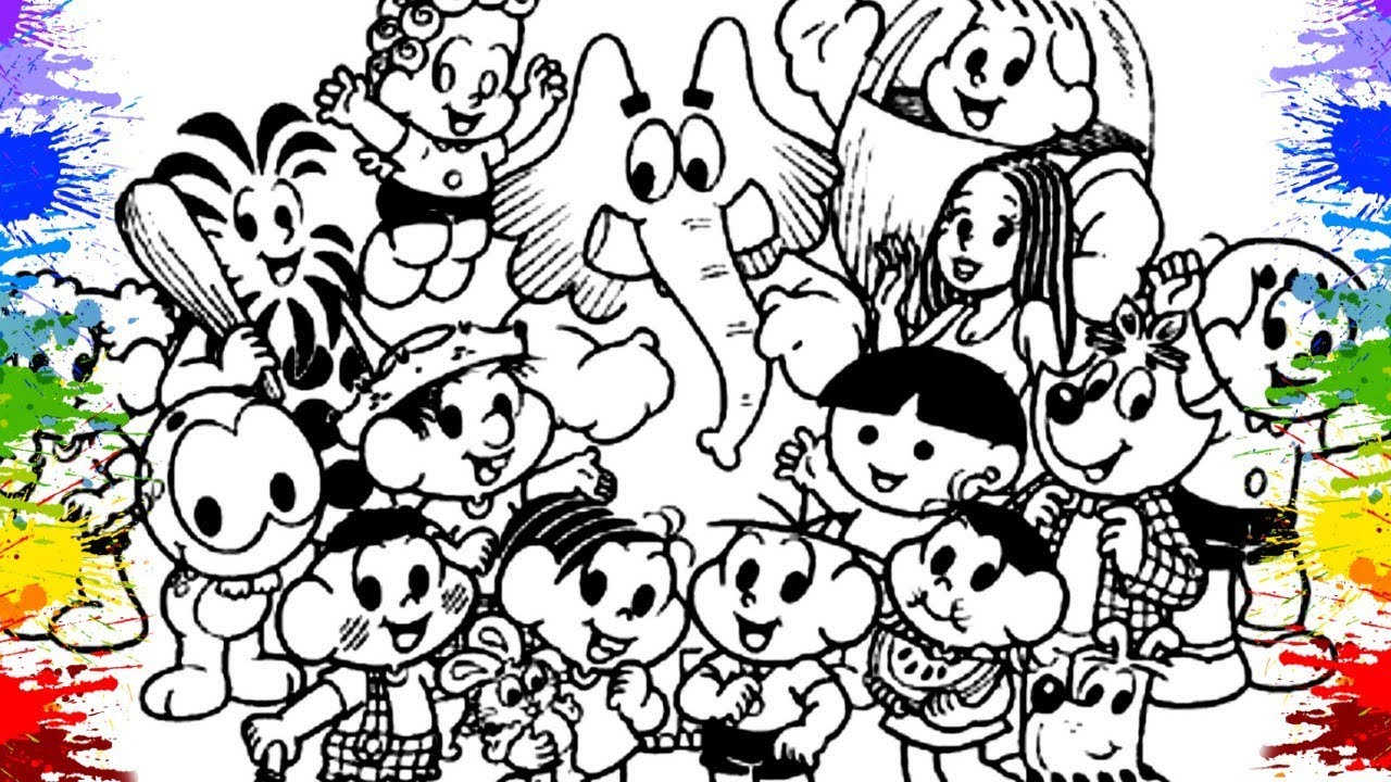 Turma Da Monica Em Portugues Cor Colorir Desenhos Da Turma Da