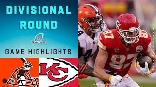 Browns vs. Chiefs Divisional Round Highlights