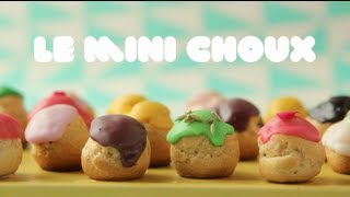 How to Make Mini Choux - Raspberry Pastry Cream Recipe