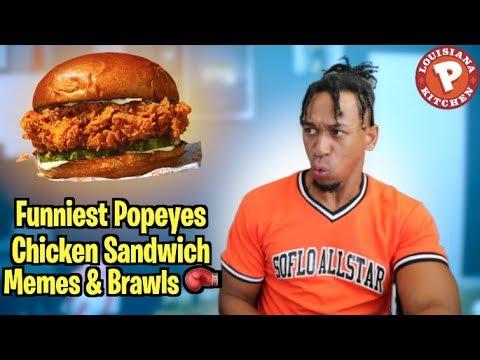 Funniest Popeyes Chicken Sandwich Memes & Fight REACTION