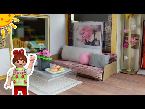💛-playmobil-frühlingsroomtour/deko-modernes-wohnhaus---familie-sonnenschein-dollhouse-diys-für-kids
