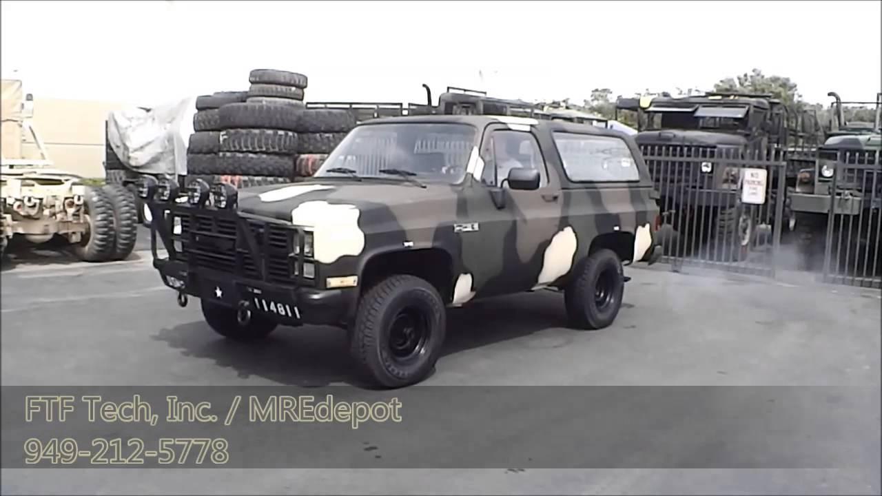 Us Navy Usmc 1983 Military M1009 Cucv Chevrolet Blazer