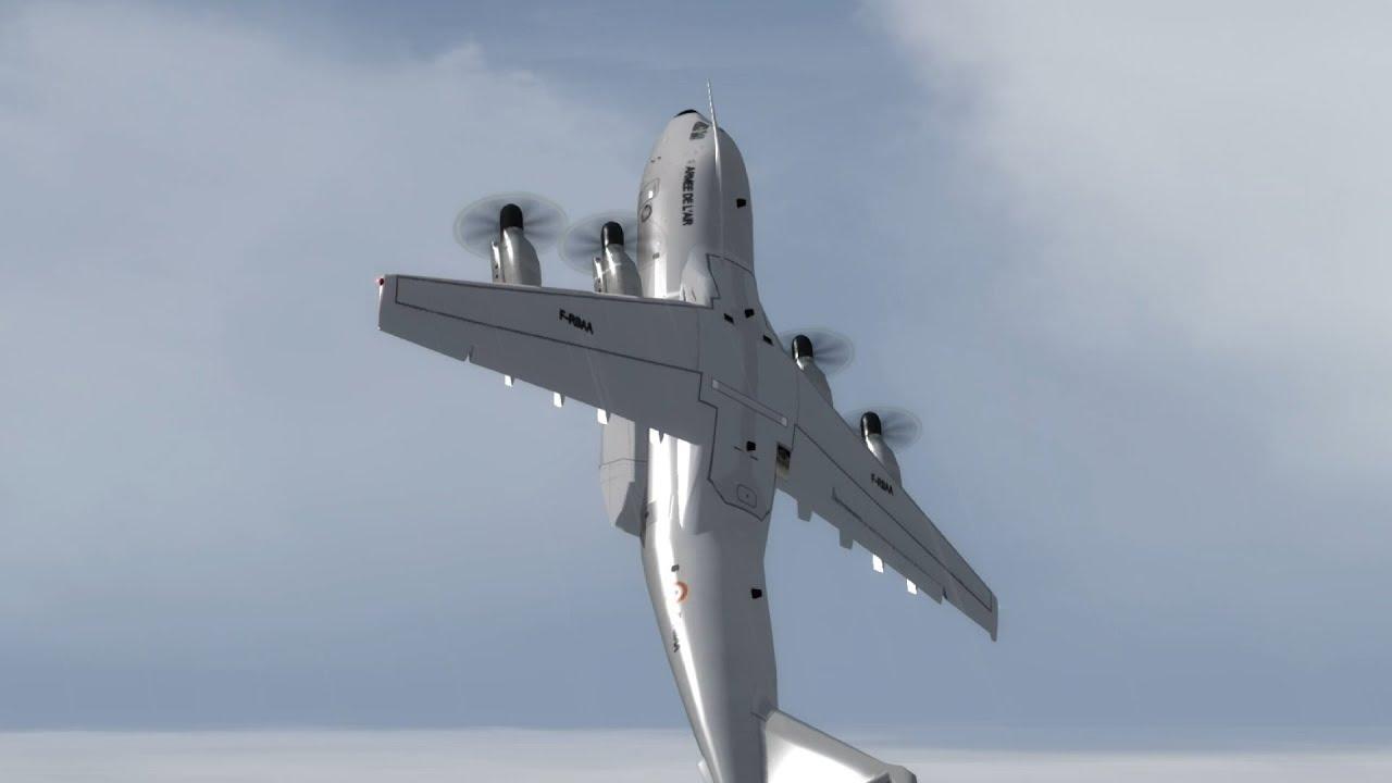 [P3D game] Vận tải cơ A400M của Pháp bay biểu diễn ở Nội Bài.