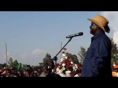 NASA's leader Raila Odinga ahead of his announcement on his next move