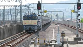 EF65-501+旧型客車+EF64-37 団体列車 栃木発回送
