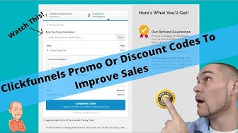 Adding Promo Or Discount Code In ClickFunnels For a 2 Step Order Form