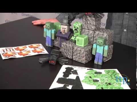 Minecraft Papercraft Overworld Hostile Mobs From Jazwares