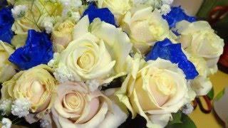 видео Свадебные букеты с синими цветами
