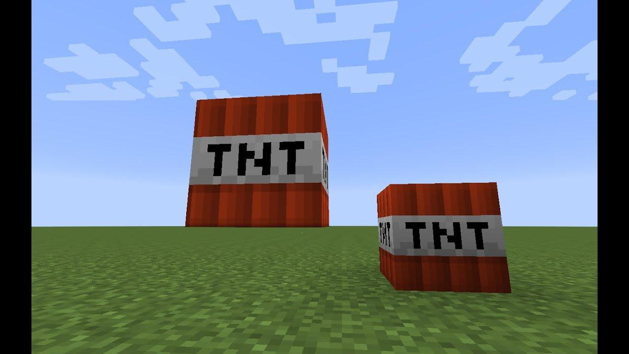 Minecraft Buildings 3# TNT Block Statue - YouTube