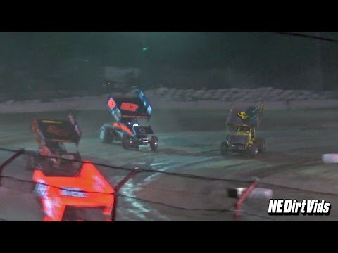 Highlights: Sprint Cars of New England at Bear Ridge Speedway 9 17 2016