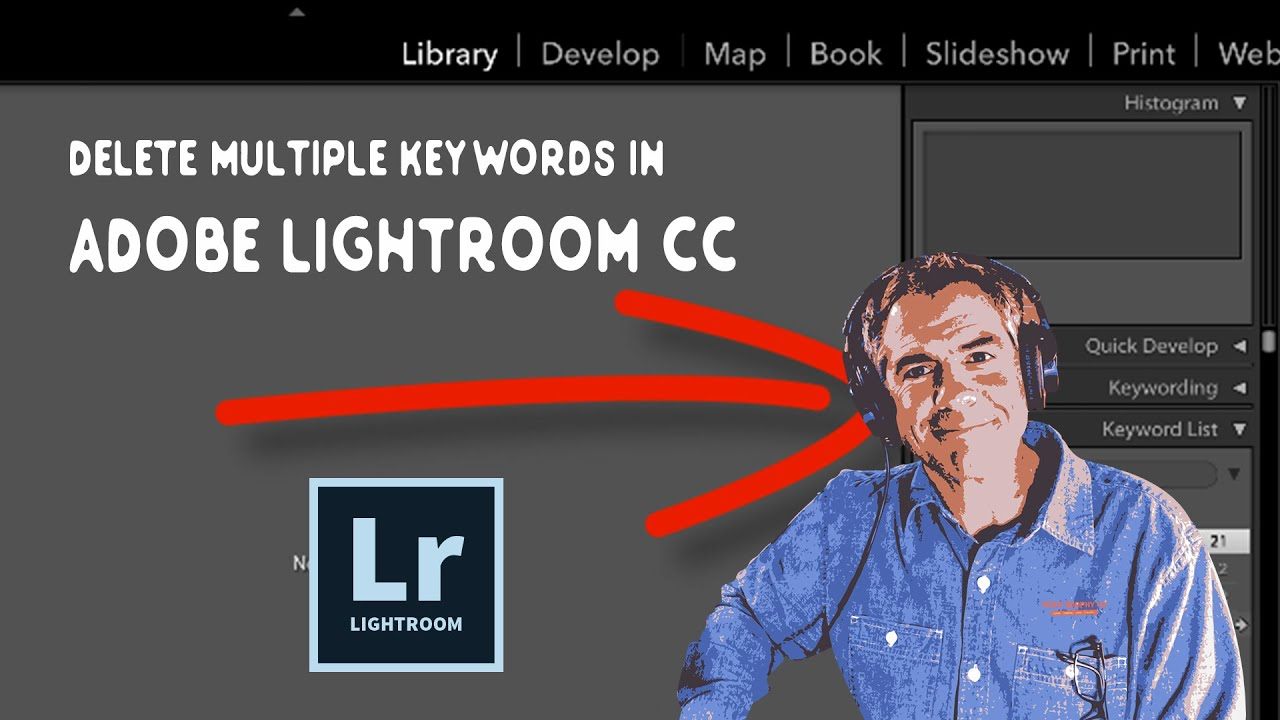 how to search for a keyword in lightroom