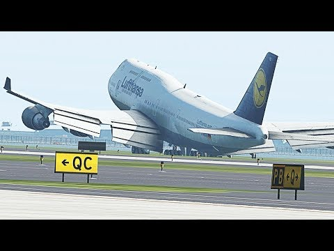 BIG PLANES LANDING AND TAKEOFF