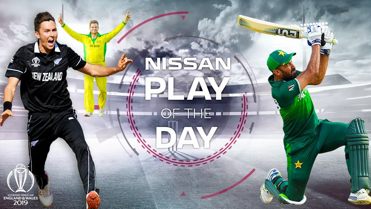 Nissan Play of the Day | Afghanistan vs Pakistan & Australia vs New Zealand | ICC Cricket World