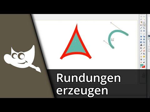 Gimp 2.8 Tutorial | Rundungen sauber zeichnen / Pfadwerkzeug [Deutsch/HD]
