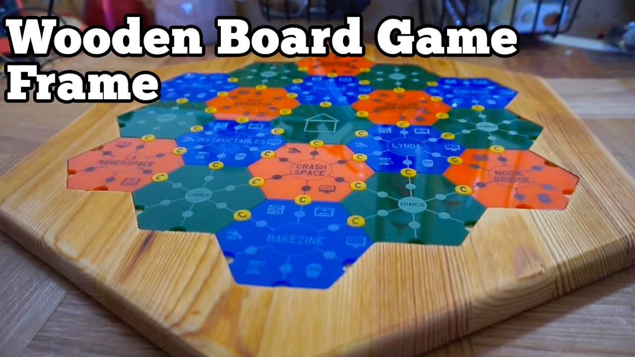 Wooden Board Game Frame Barb Makes Things 72