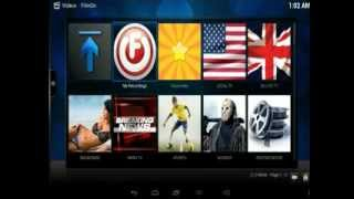 mbox with hd live channel with filmon and mashup and glwiz