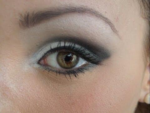 maquillaje de ojos en tonos blanco y negro diy