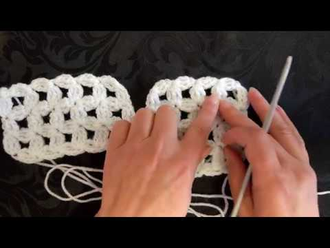 How to crochet my flower trellis pattern for shawls, scarves, blankets and curtains